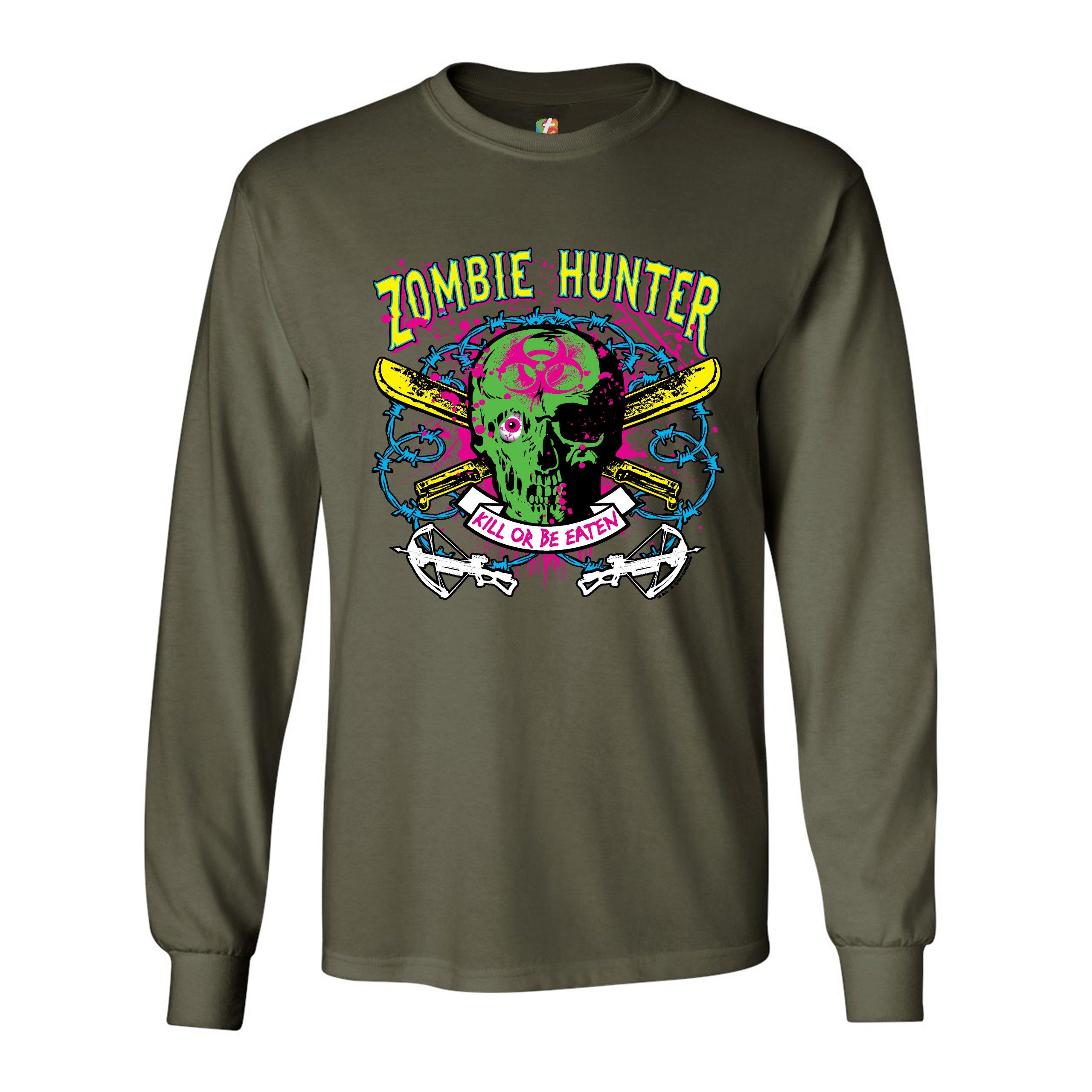 Zombie Hunter Glow in the Dark Tank Top Halloween Undead Apocalypse Men/'s Top